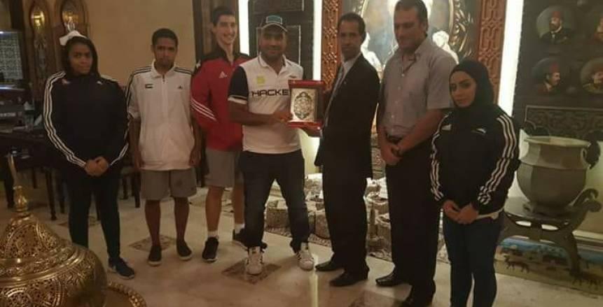 تكريم منتخب الكارتيه الإماراتي في مصر