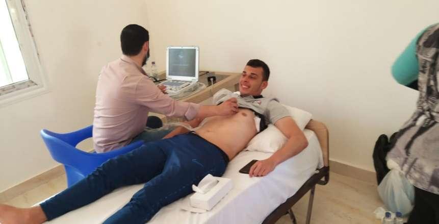 كشف طبي شامل على لاعبي المنتخب الأولمبي في معسكر السويس (صور)