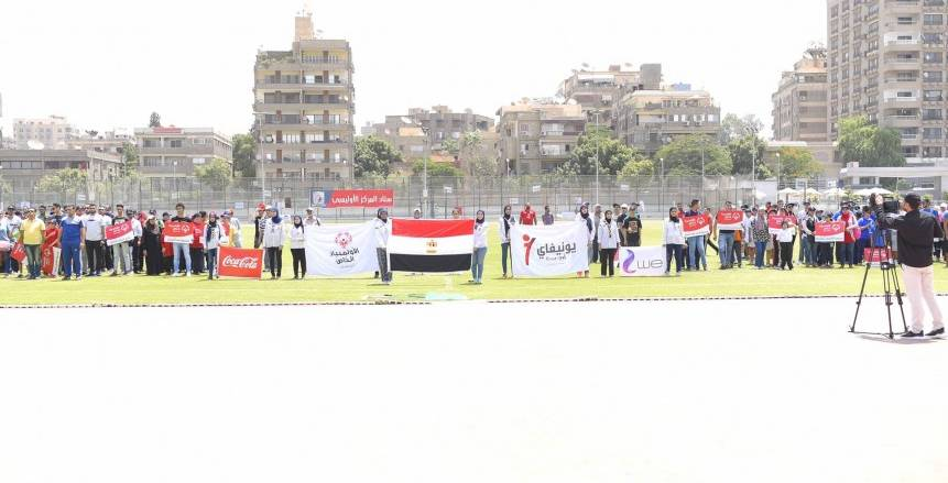 بالصور  حفل افتتاح ألعاب ومسابقات الاولمبياد الخاص لفرع القاهرة الكبري