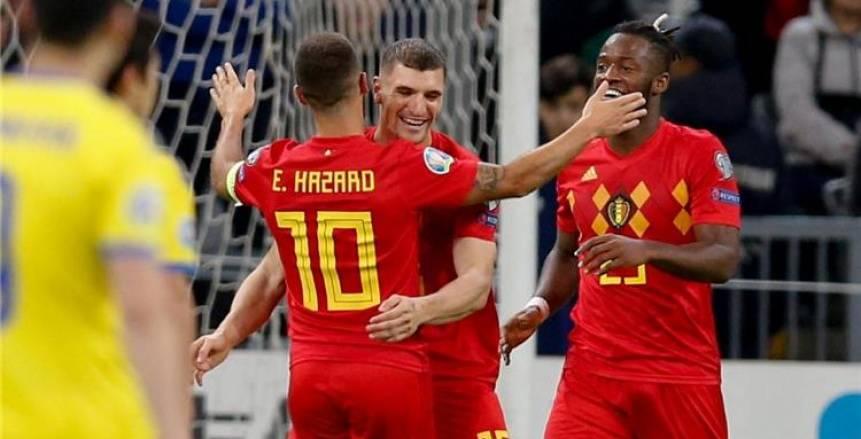 بالفيديو.. بلجيكا يُحقق انتصاره الثامن على التوالي.. ويفوز على كازاخستان بثنائية