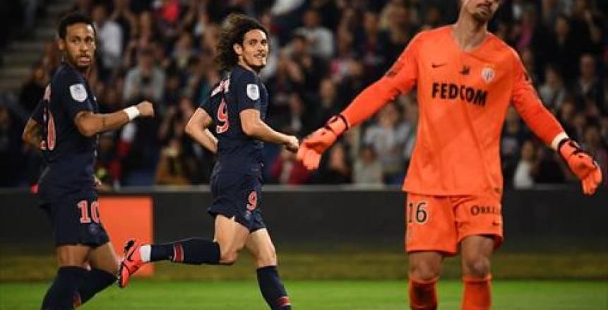في ليلة عودة نيمار وكافاني.. باريس سان جيرمان يحتفل بلقب الدوري بثلاثية في موناكو