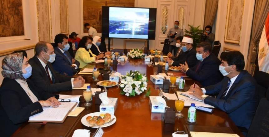 وزراء الرياضة والأوقاف والإعلام يناقشون مبادرة بناء الشخصية المصرية