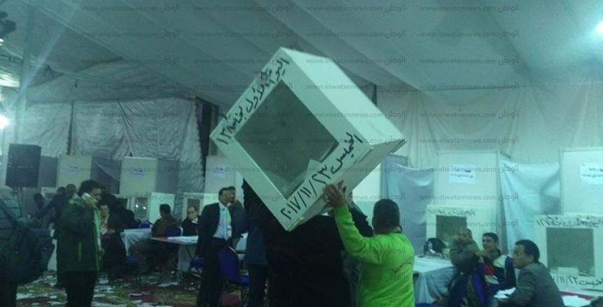 بالصور| إحضار صناديق اليوم الأول بانتخابات الزمالك لبدء الفرز