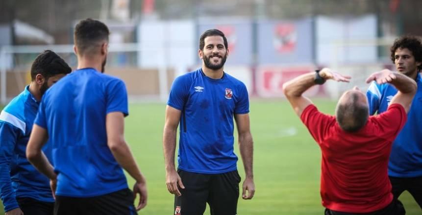 مران الأهلي استعدادا لمواجهة الجونة في الدوري العام
