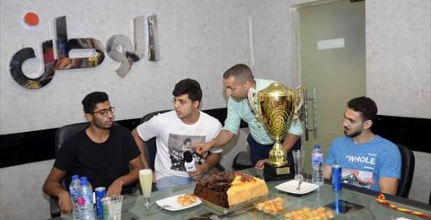 """لاعب منتخب اليد للناشئين في ندوة الوطن: كأس العالم """"هدية"""" للشعب المصري العظيم"""
