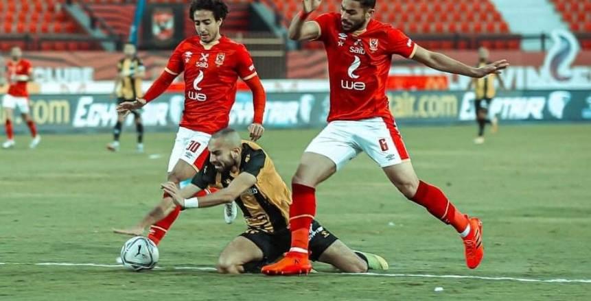 الأهلي يفوز على المقاولون العرب بثلاثية في مباراة مثيرة بالدوري