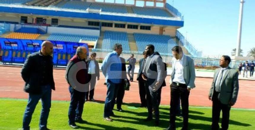 أمن السويس يمنع الصحفيين من دخول ملعب مباراة الزمالك والمصرى