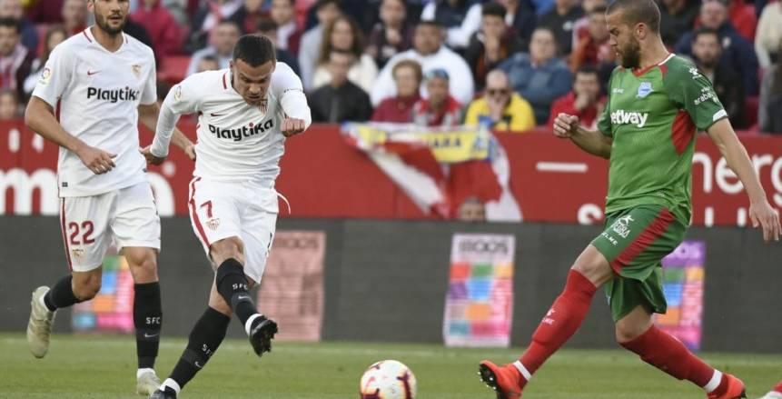 إشبيلية ينتصر على إسبانيول بثنائية في الدوري الإسباني
