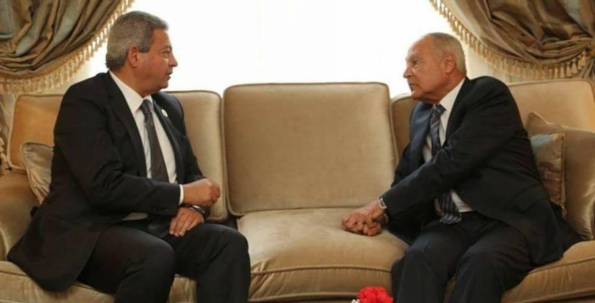 وزير الرياضة يلتقي الأمين العام لجامعة الدول العربية