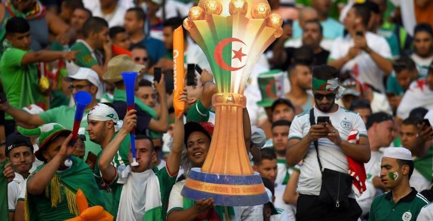 حماس جماهير الجزائر والسنغال قبل مباراة نهائي أمم أفريقيا