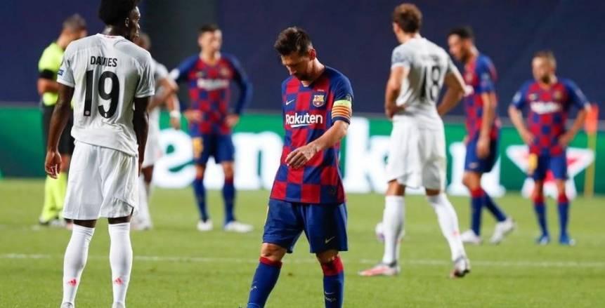 """""""إدارة ولاعبين العار"""".. عبارات قاسية من جماهير برشلونة بعد نكسة البايرن (صور)"""