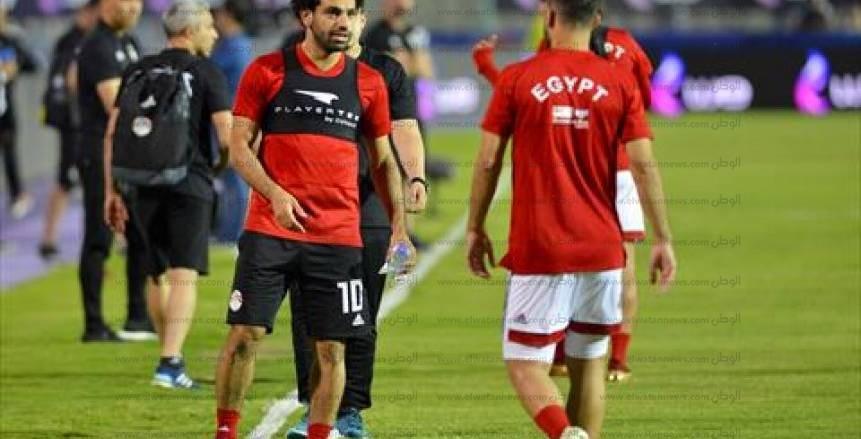 تدريب منتخب مصر الأخير قبل السفر إلى روسيا وخوض كأس العالم