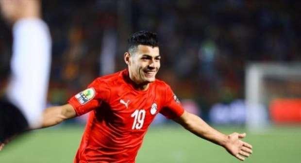 عبد الرحمن مجدي لاعب المنتخب الأولمبي