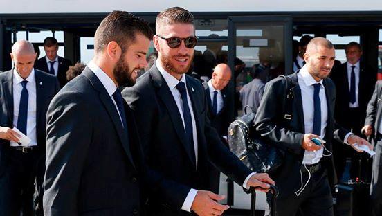 بالصور| فريق ريال مدريد يطير لملعب نهائي السوبر الأوروبي