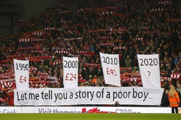 جمهور ليفربول يهاجم إدارته بسبب ارتفاع أسعار التذاكر