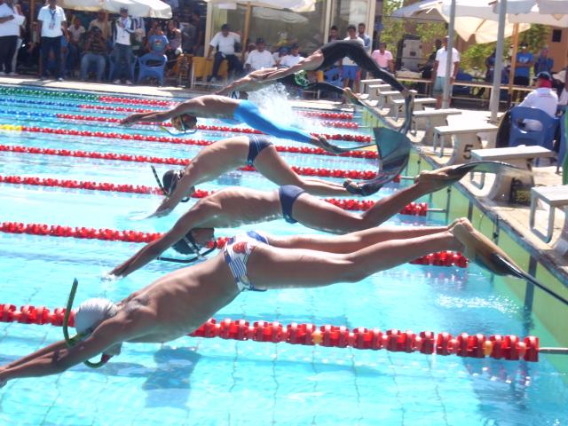 18 ميداليه فى اليوم الأول لبطولة أفريقيا للسباحة