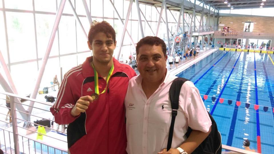 يوسف عبدالله يحقق الميدالية البرونزية في بطولة المجر الدولية للسباحة