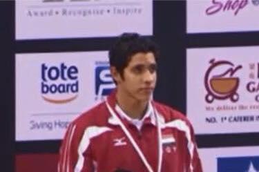 محمد سامى يتوج بالميدالية البرونزية ببطولة العالم للسباحة