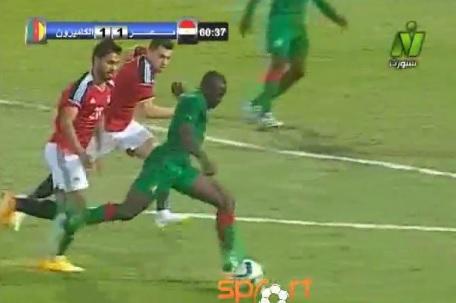 بالفيديو | المنتخب الكاميروني يسجل هدف التعادل في شباك المنتخب الاولمبي